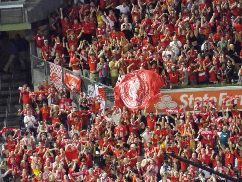 Liverpool Football Club Fans royalty free stock photo