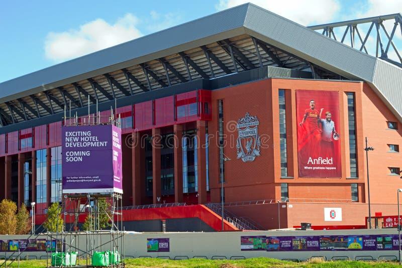 Liverpool fotbollklubbas kommande avslutning för nya ställning £114 miljon arkivbild