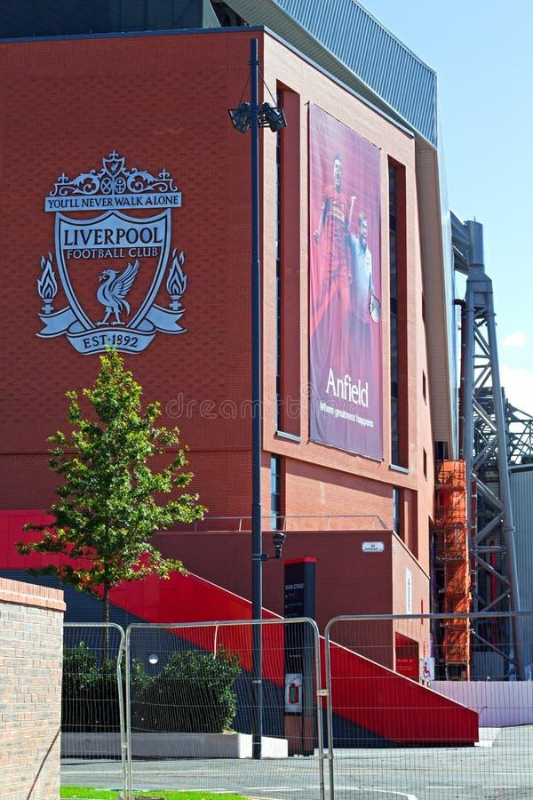 Liverpool fotbollklubbas kommande avslutning för nya ställning £114 miljon arkivfoton