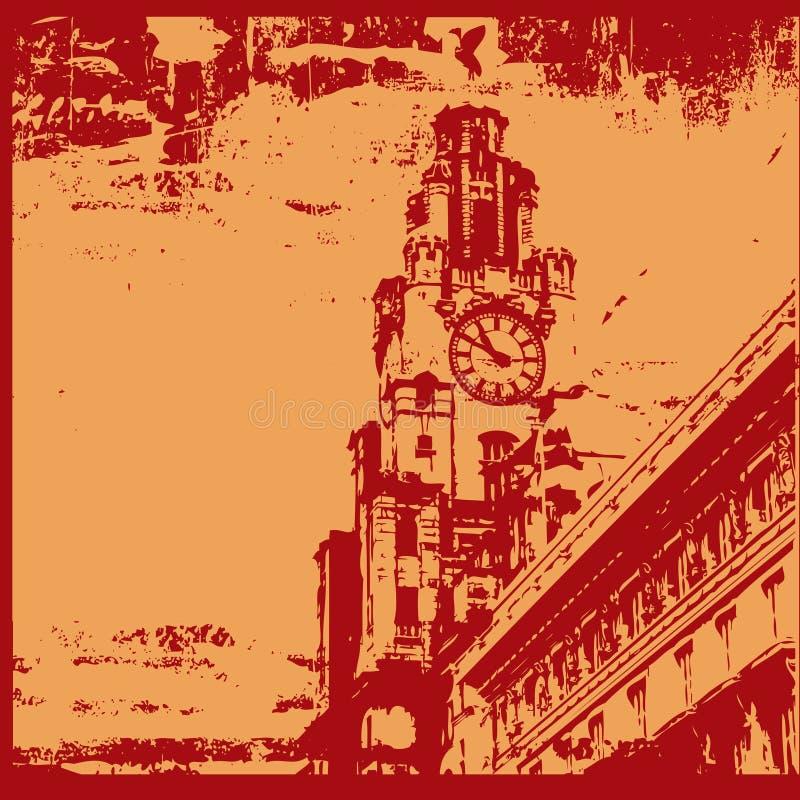 Liverpool Grunge royalty illustrazione gratis