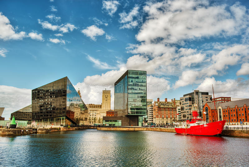 Liverpool HDR stock afbeelding
