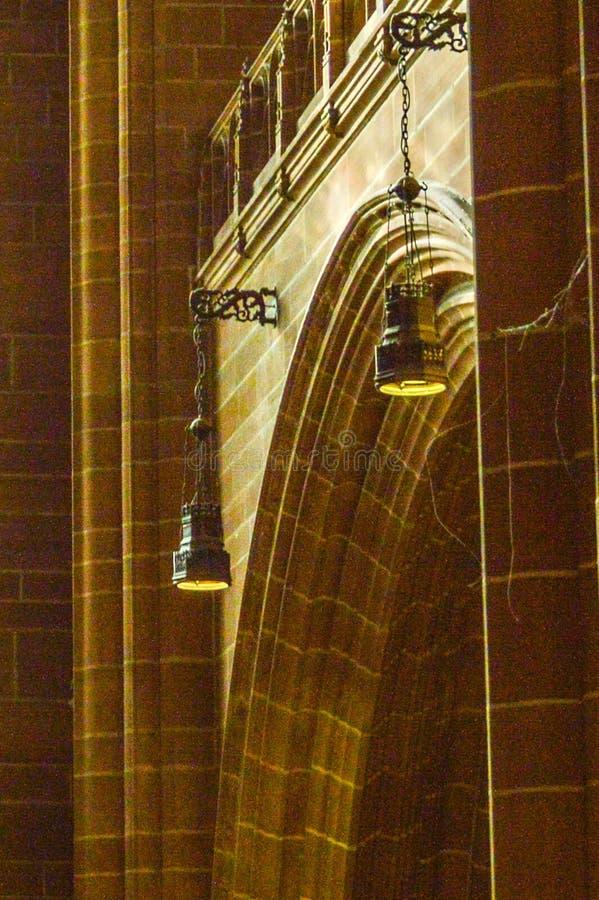 Liverpool, het UK - 03 April 2015 - Binnenlandse mening van de Kathedraal van Liverpool stock afbeeldingen