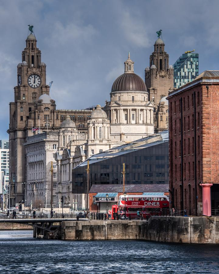 Free Liverpool Historical Skyline At The Waterfront Stock Photos - 145862343