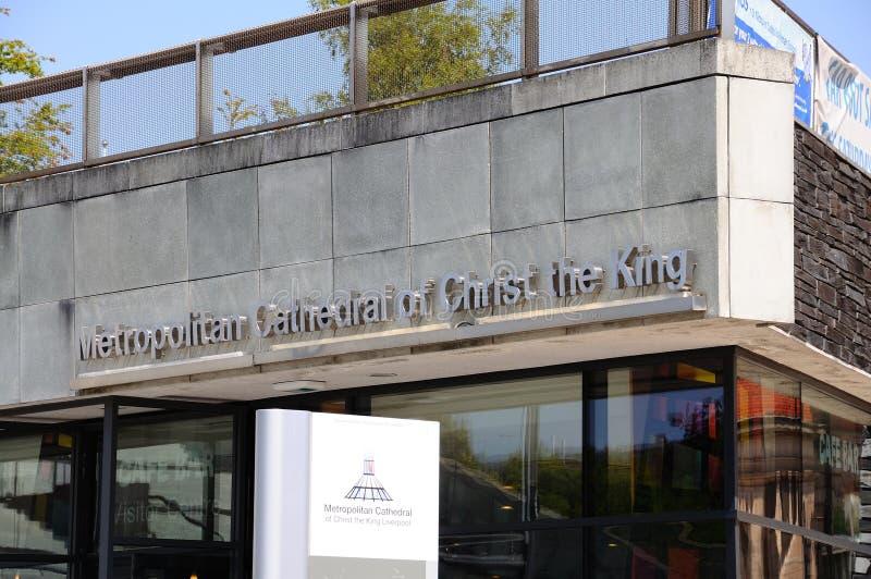 Liverpool katedry znak obraz royalty free
