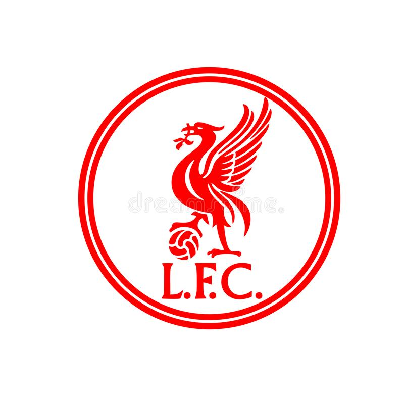 Liverpool logo design circle concept for supporter royalty free stock photos