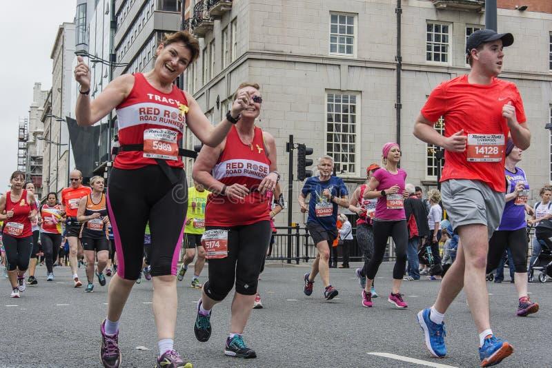 Liverpool maraton 2017 arkivfoto