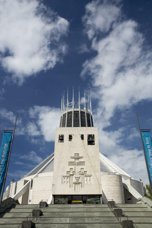 Liverpool, Merseyside, UK, 24th 2014 Czerwiec, Liverpool Wielkomiejska katedra, Wielkomiejska katedra Chrystus królewiątko obraz stock