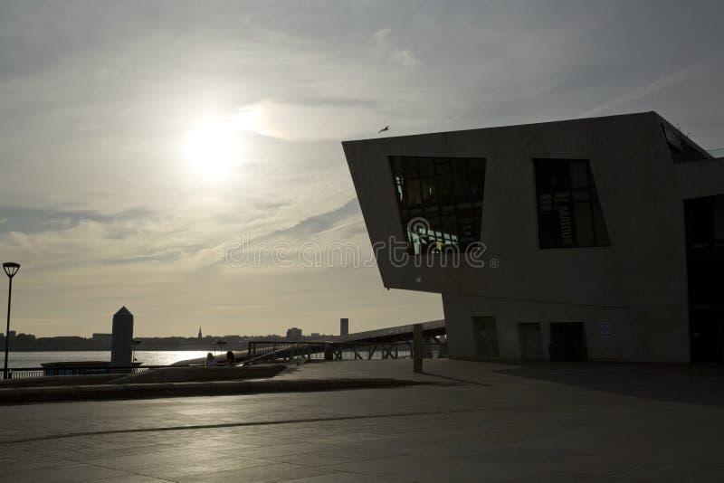 Liverpool Merseyside, UK - 24th Juni 2014 - horisont och museum av Liverpool royaltyfria foton
