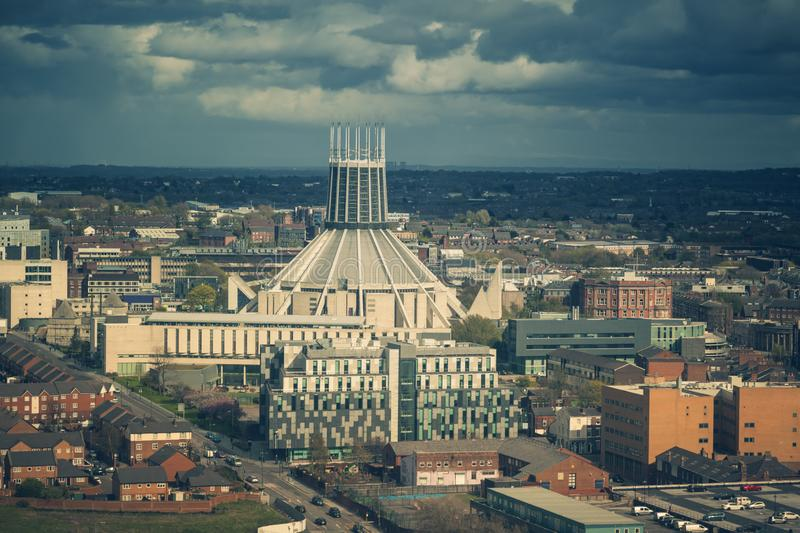 Liverpool Metropolitan Cathedral. Liverpool, North West England, UK royalty free stock image