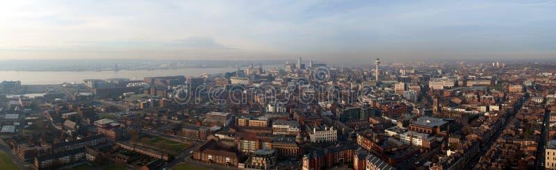 Liverpool Panorama stock photo