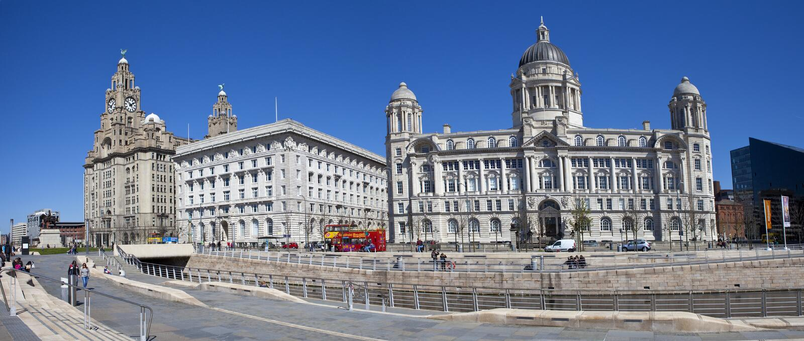 Download Liverpool Panoramic editorial stock photo. Image of cities - 40024483