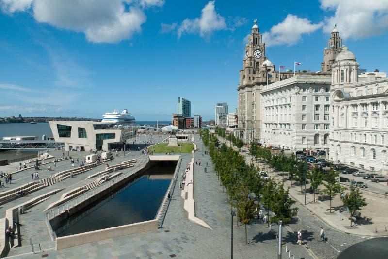 Liverpool Pierhead imágenes de archivo libres de regalías