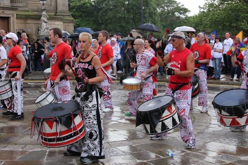 Liverpool pride parade royalty free stock image