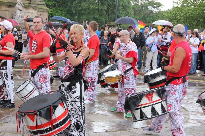 Liverpool pride parade royalty free stock photo