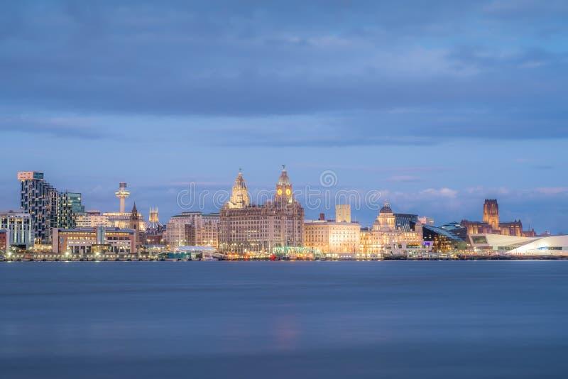 Liverpool-Skyline lizenzfreie stockfotografie