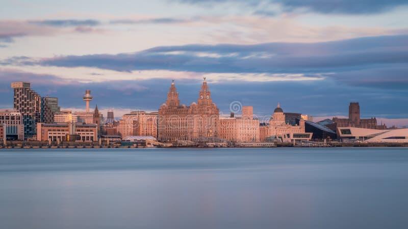Liverpool-Skyline lizenzfreie stockbilder