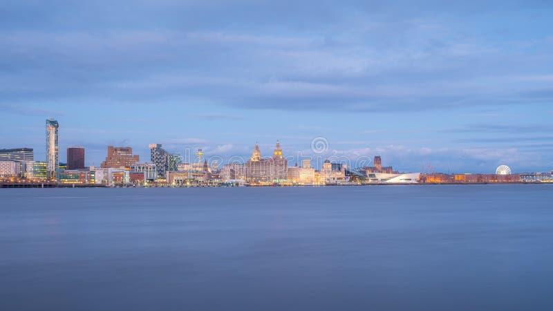 Liverpool-Skyline stockbild