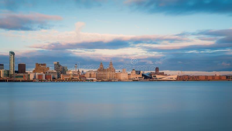 Liverpool-Skyline stockfoto