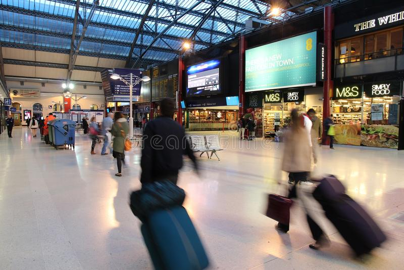 Liverpool stacja obrazy royalty free