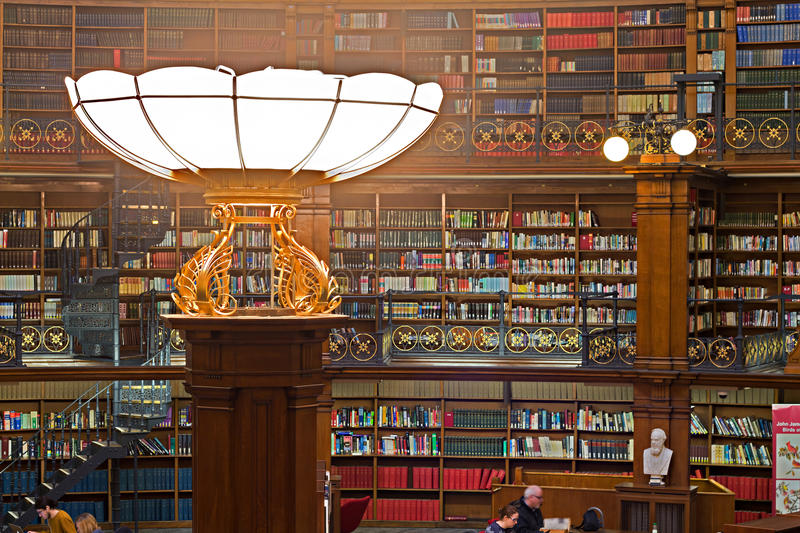 LIVERPOOL 16TH JANUARY 2016. Picton Reading Room inside Liverpool Central Library. LIVERPOOL UK stock images