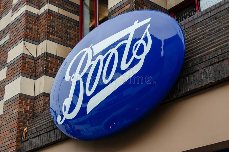 Boots shop sign royalty free stock photography