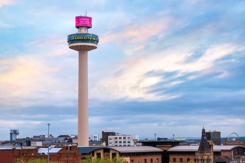 Radio City tower in Liverpool, UK royalty free stock photo