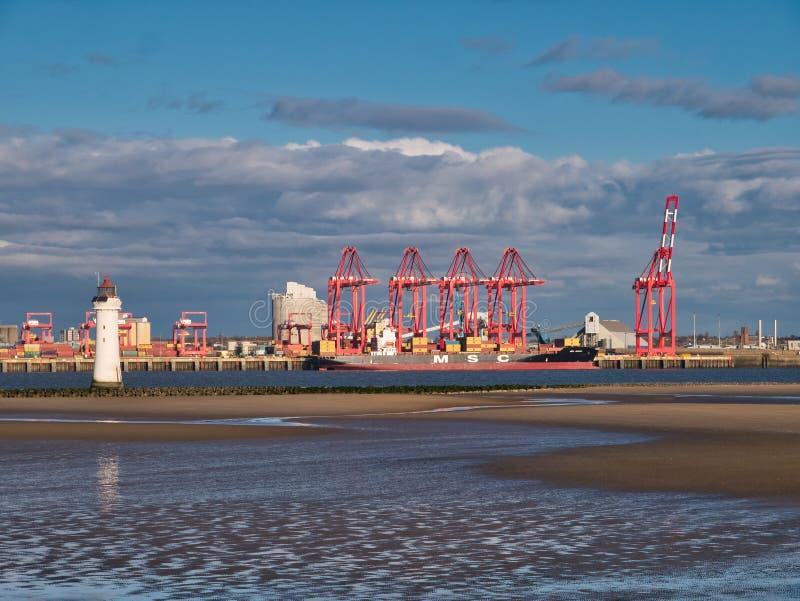 Liverpool2 - um terminal de contentores de águas profundas de 400 milhões de libras no porto de Liverpool fotos de stock royalty free