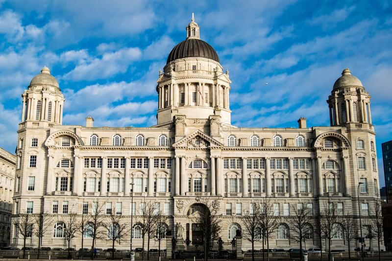 LIVERPOOL, UNITED KINGDOM - JANUARY 11, 2018 - Port of Liverpool Building formerly known. LIVERPOOL, UNITED KINGDOM - JANUARY 11, 2018 - Port of Liverpool royalty free stock photography
