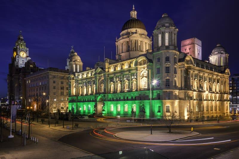 Liverpool 3 vereert waterkant royalty-vrije stock foto