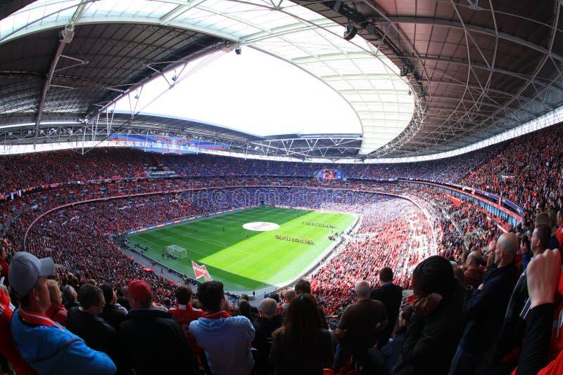 Liverpool versus Semi Def. 2012 van de Kop van Everton FA royalty-vrije stock foto