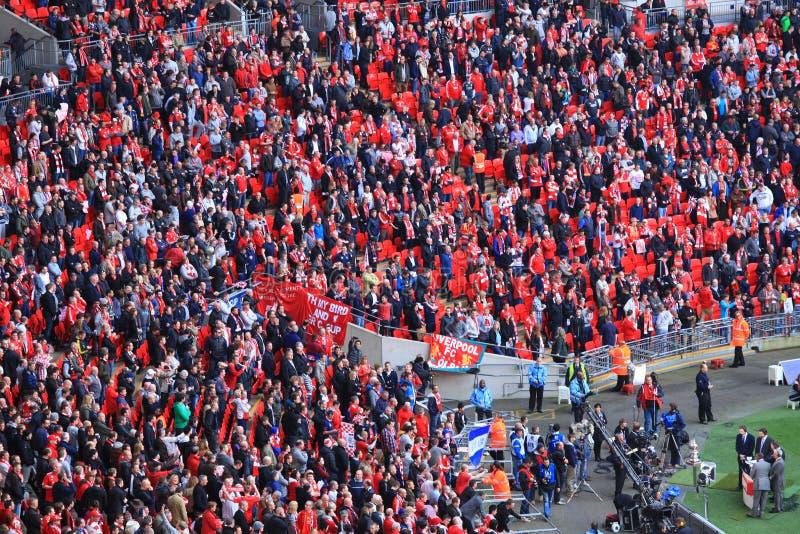 Liverpool versus Semi Def. 2012 van de Kop van Everton FA royalty-vrije stock foto's