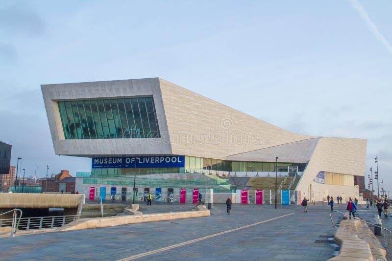 Liverpool Zjednoczone Królestwo, Luty, - 24, 2014: Muzeum Liverpool zdjęcie stock