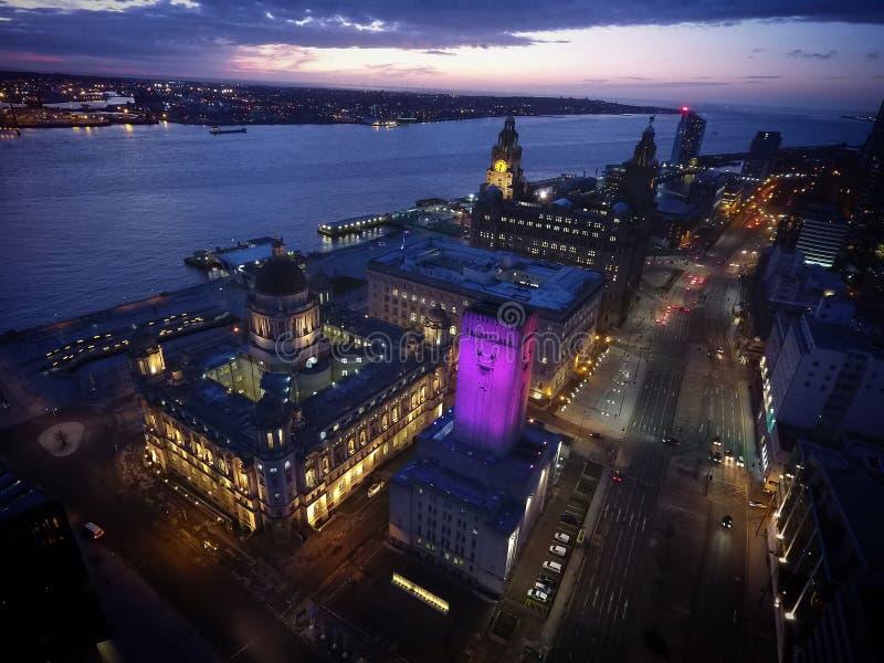 Liverpools阿尔伯特船坞 免版税库存图片