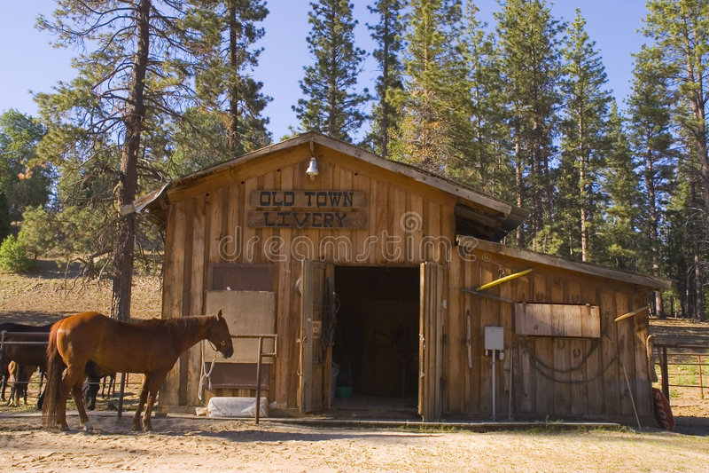 Livery Stable stock photography