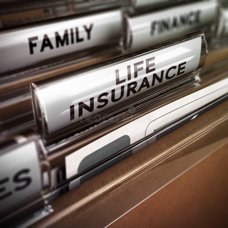 Livförsäkringavtal vektor illustrationer