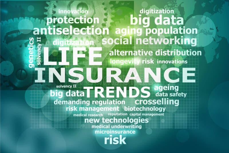 Livförsäkringtrender stock illustrationer