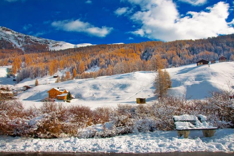 Livigno en hiver photos libres de droits
