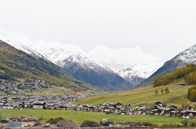 Livigno. Small Italian ski town in autumn - Livigno royalty free stock images