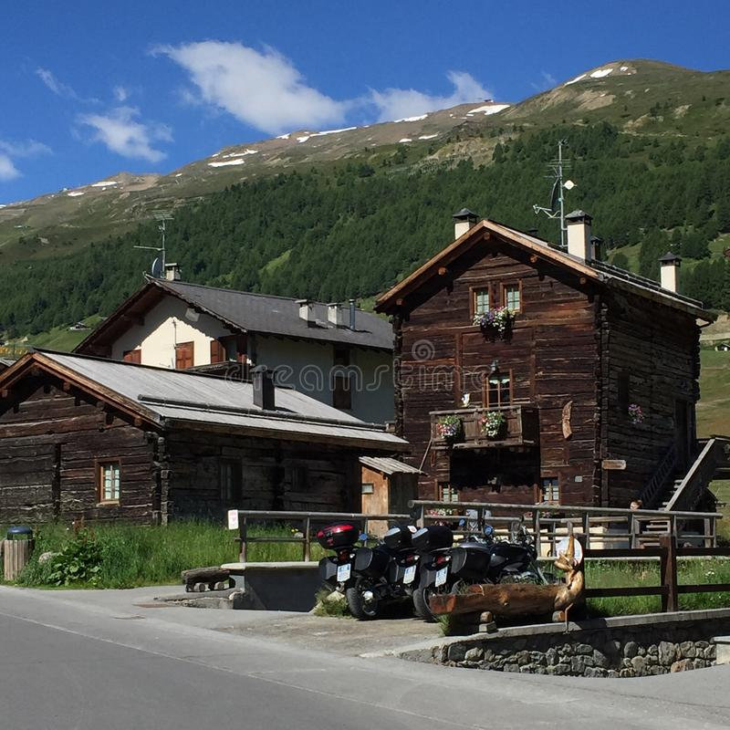 Livigno. Village in italy - toll free Shopping here royalty free stock photos