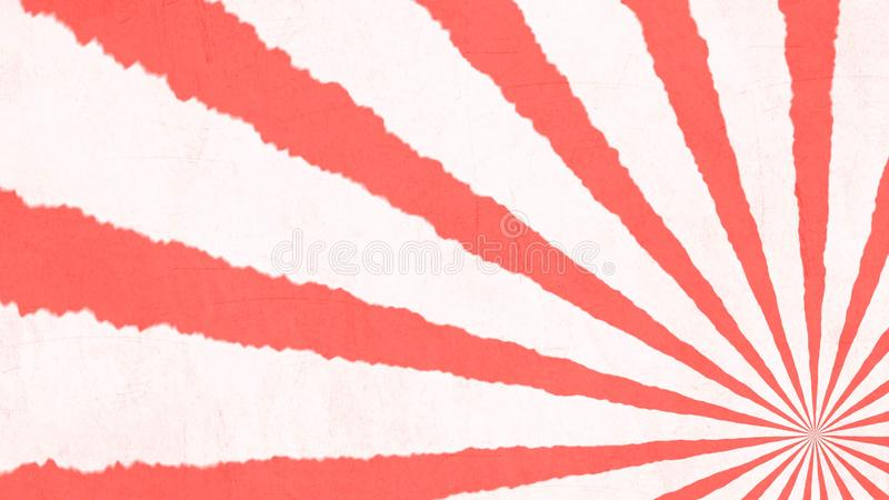Living Coral - Color of the year - Retro stripes. Living Coral - Color of the year - Stripes on retro background vector illustration