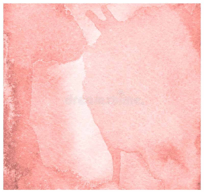 Living Coral watercolor painted on paper background texture royalty free stock images