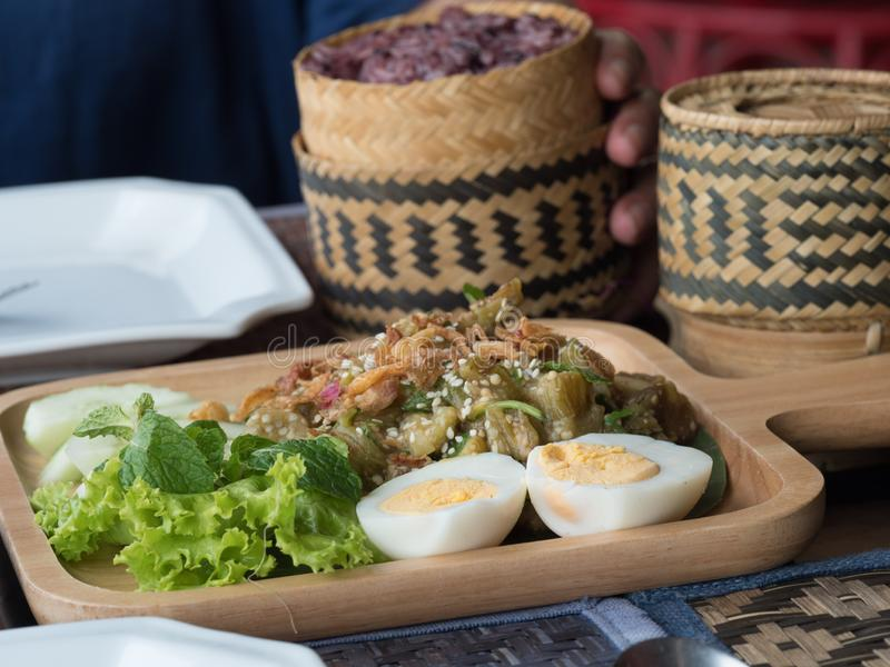 """The Living Craft Centre. Luang Phabang, Laos. Traditional Lao food at Ock Pop Tok, """"East Meets West"""" in Lao, founded on the principles of fair trade royalty free stock photography"""