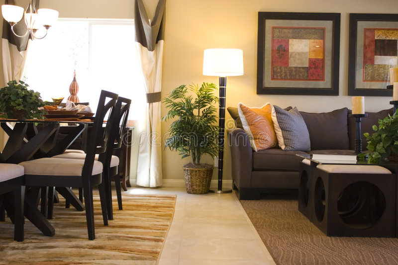 Living and dining room royalty free stock photography