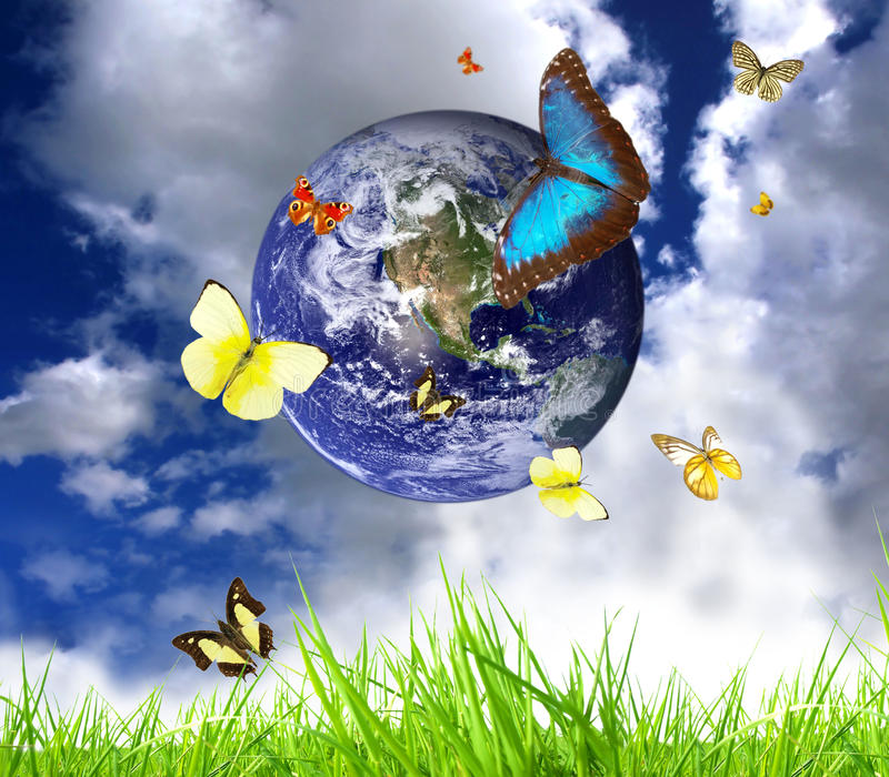 Download Living Earth stock illustration. Image of environmental - 18354645
