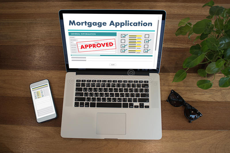 Living Estate MORTGAGE real estate property Investment manage. Ment home pay Loan Payment royalty free stock image