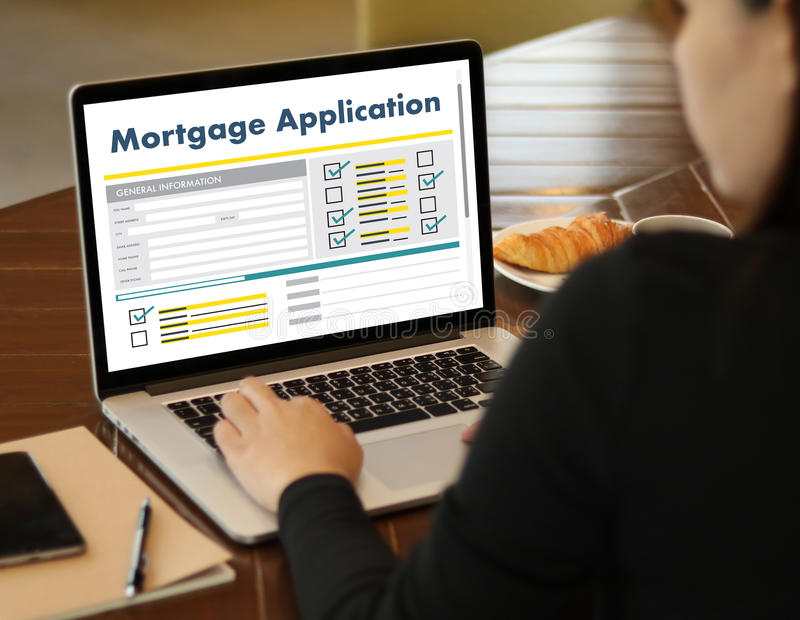 Living Estate MORTGAGE real estate property Investment manage. Ment home pay Loan Payment stock photography