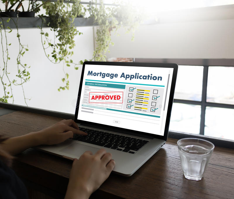 Living Estate MORTGAGE real estate property Investment manage. Ment home pay Loan Payment royalty free stock photos