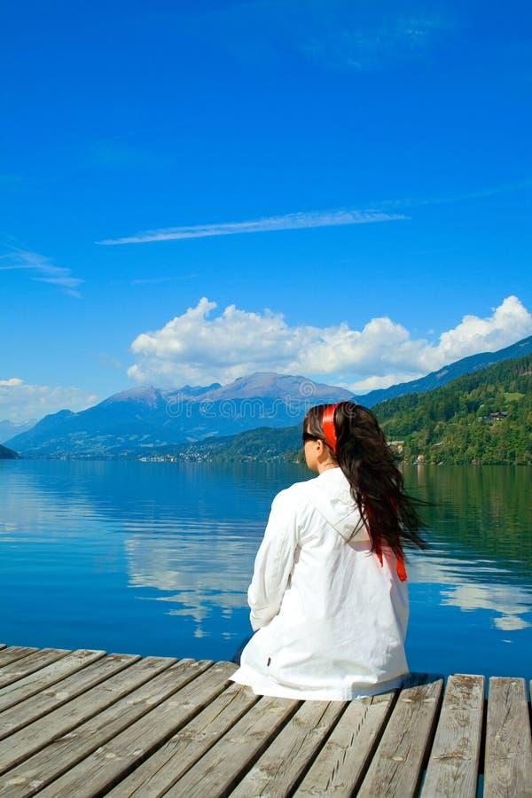 living för 7 lake fotografering för bildbyråer