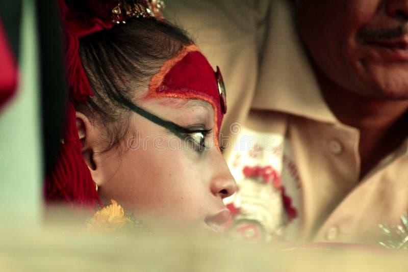 Living Goddess Kumari royalty free stock image