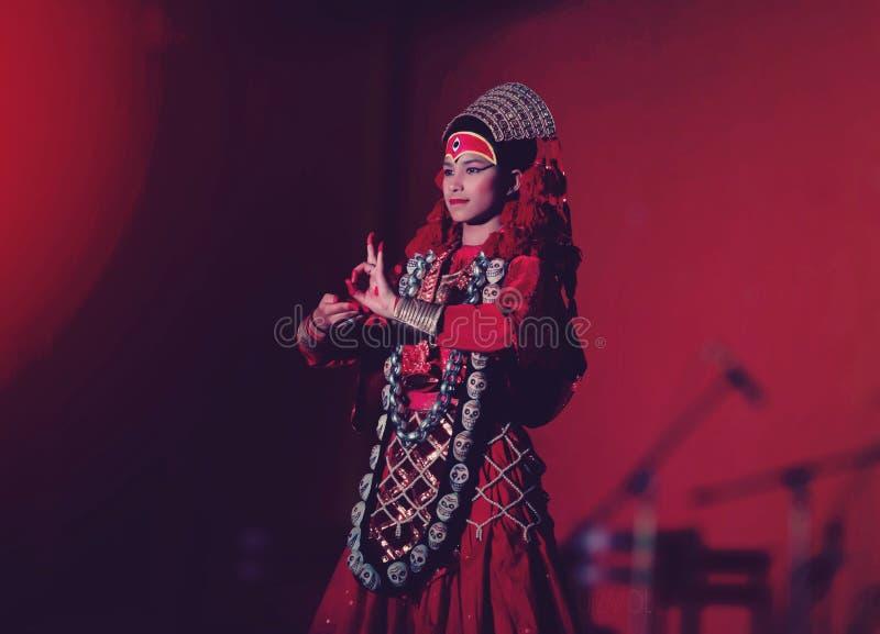 Living Goddess Kumari royalty free stock photos